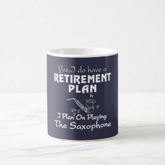 Je prévois sur jouer le saxophone mug blanc