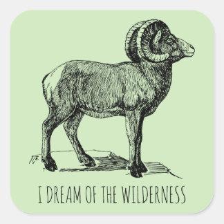 Je rêve des autocollants de moutons de Big Horn de
