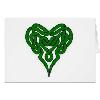 Je saigne le vert pour l'Irlande Carte De Vœux