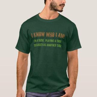 Je sais qui je suis chemise t-shirt