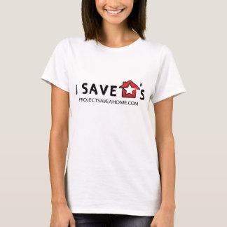 Je sauve le T-shirt de la charité de la maison