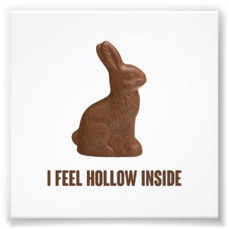 Je sens le lapin de Pâques intérieur creux de Photographes