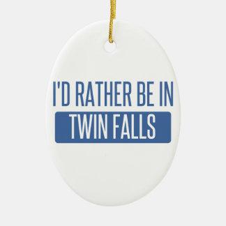 Je serais plutôt dans des automnes jumeaux ornement ovale en céramique
