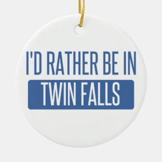 Je serais plutôt dans des automnes jumeaux ornement rond en céramique
