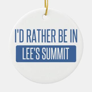 Je serais plutôt en sommet de Lee Ornement Rond En Céramique