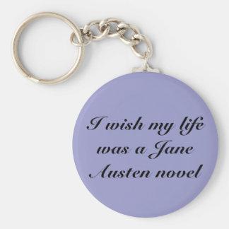 Je souhaite que ma vie ait été Jane Austen n… - Porte-clé Rond