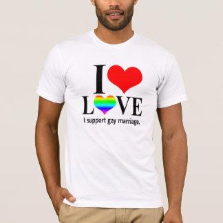 Je soutiens le mariage homosexuel t-shirt