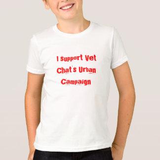 Je soutiens le rouge urbain de la campagne du t-shirt