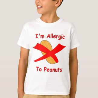 Je suis allergique au T-shirt d'arachides
