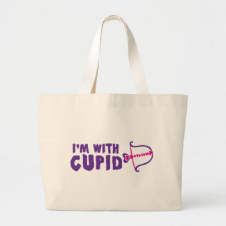 Je suis avec le cupidon sac en toile jumbo