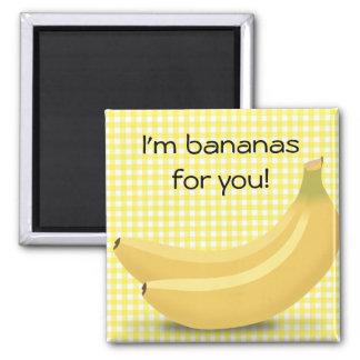 Je suis des bananes pour vous, aimant mignon de
