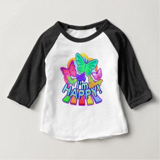 Je suis heureux ! T-shirt de raglan de bébé