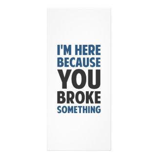 Je suis ici puisque vous avez cassé quelque chose double carte en  couleur
