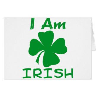 Je suis irlandais carte de vœux