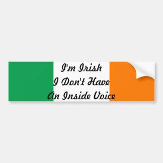 Je suis irlandais je n'ai pas un autocollant