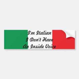 Je suis italien je n'ai pas un autocollant