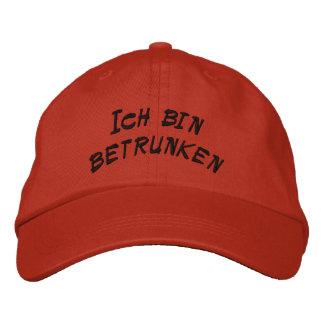 Je suis ivre en allemand casquette brodée
