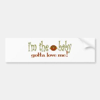 Je suis le bébé m'aime autocollant de voiture