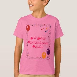 je suis le T-shirt de fille d'anniversaire