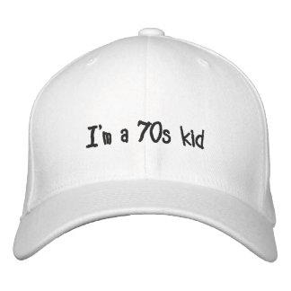Je suis les années 70 un casquette d'enfant
