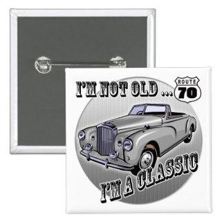 Je suis les soixante-dixième cadeaux d'anniversair badge carré 5 cm
