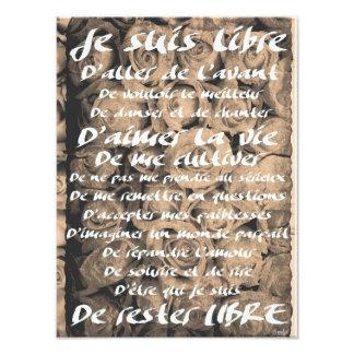 """""""Je suis Libre..."""" Photos Sur Toile"""
