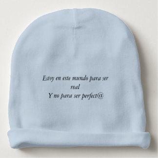 Je suis né pour être réel non perfect@ bonnet pour bébé