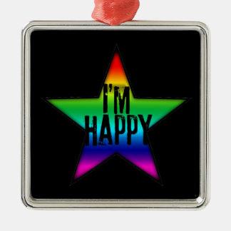 Je suis ornement lesbien gai heureux du carré B