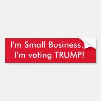 Je suis petite entreprise… que je vote l'ATOUT ! Autocollant De Voiture