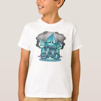 Je suis T-shirt triste de blanc d'enfants