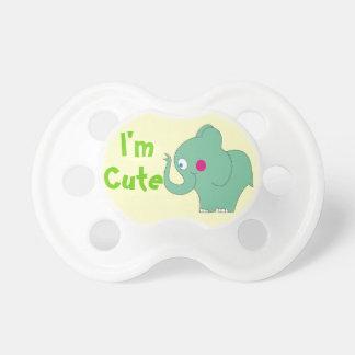 Je suis tétine verte douce mignonne d'éléphant