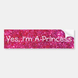 Je suis un amusement mignon de princesse Pink Autocollant De Voiture