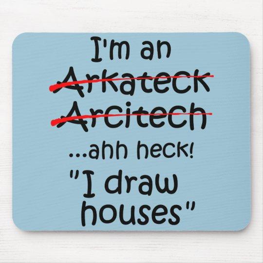 je suis un architecte tapis de souris zazzle. Black Bedroom Furniture Sets. Home Design Ideas