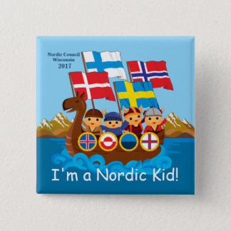 Je suis un bouton nordique d'enfant badge carré 5 cm