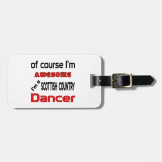 Je suis un danseur écossais de pays étiquette pour bagages