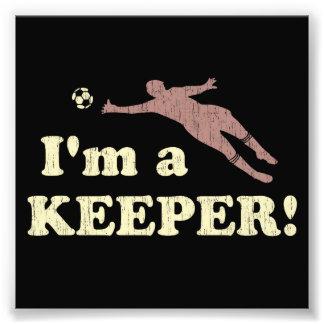 Je suis un gardien de but du football de gardien photographie