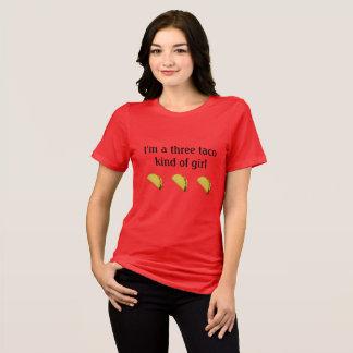 """""""Je suis un genre de trois tacos T-shirt de fille"""""""