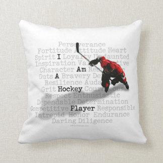 Je suis un joueur de hockey coussins carrés