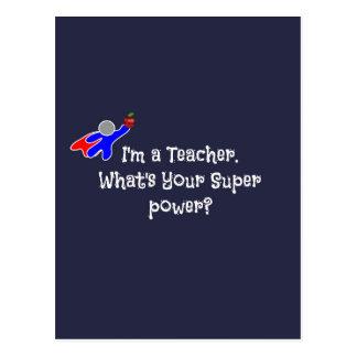 Je suis un professeur--humour de professeur cartes postales