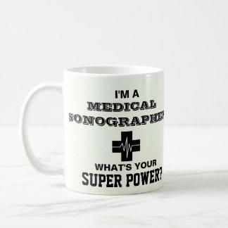 Je suis un Sonographer médical Mug Blanc