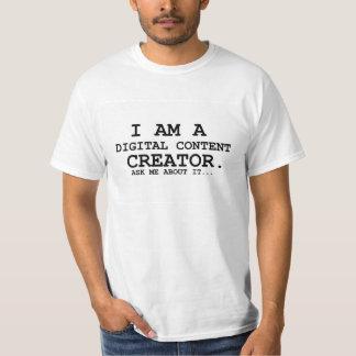 Je suis un T-shirt de créateur du contenu