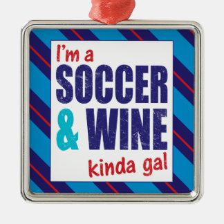 Je suis une décoration de gallon du football et de ornement carré argenté