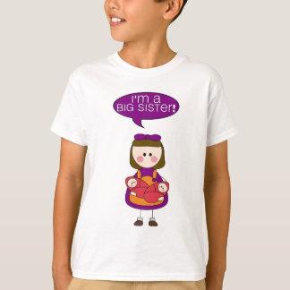 je suis une grande soeur (les filles jumelles) t-shirt