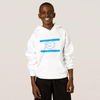"""Je sweat - shirt à capuche aime Israël"""