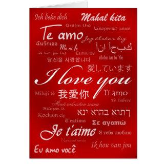 Je t'aime (30 langues) carte de vœux