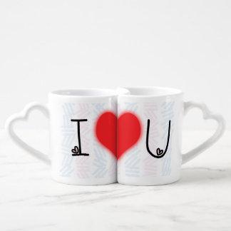 Je t'aime à l'ensemble de lune et de tasse des
