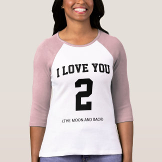 Je t'aime au raglan de douille de lune et de dos t-shirt
