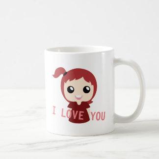 Je t'aime avec la couleur rouge mug