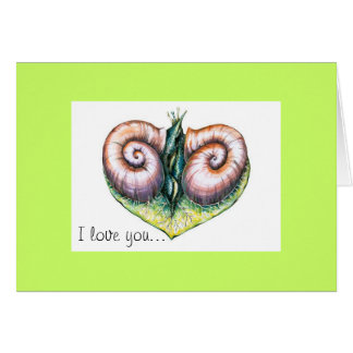Je t'aime carte d'escargots