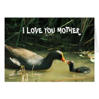 Je t'aime carte mignonne de mère et d'enfant de